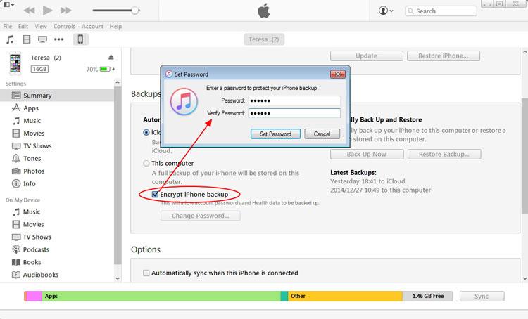 iPhone-Backupdaten verschlüsseln