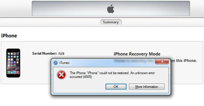 iPhone-Fehler 4005 beheben