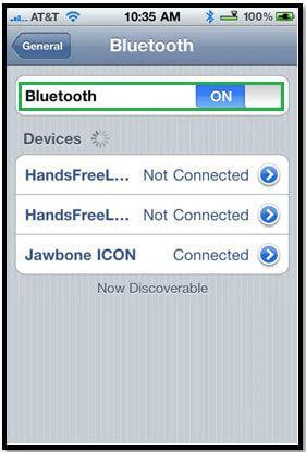 Transfert iphone par bluetooth