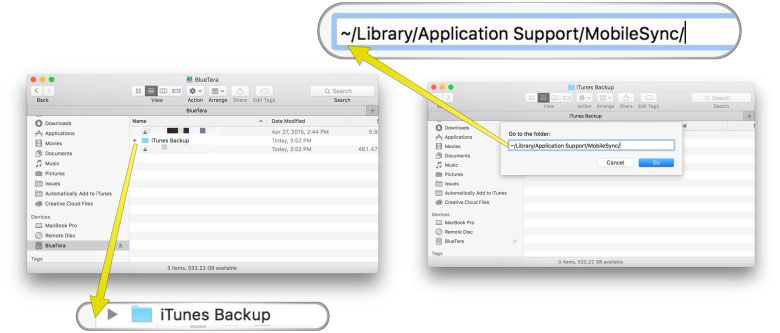 how to backup iPhone to external hard drive with iTunes