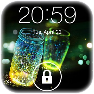 best way to unlock Android fingerprint lock-Fireflies Lock Screen