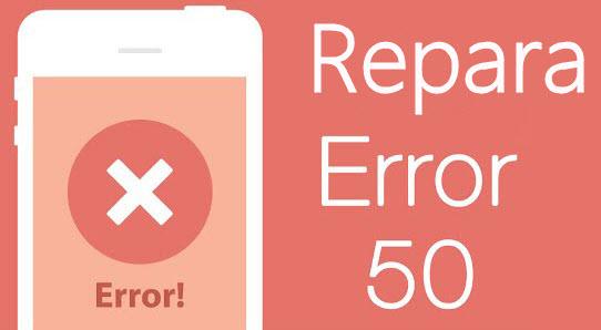 reparar error 50 de iTunes