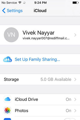 start to Change iCloud Email on iPhone