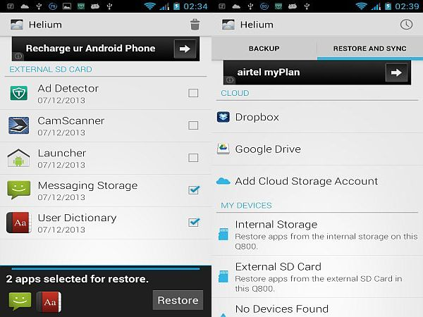 free android app backup