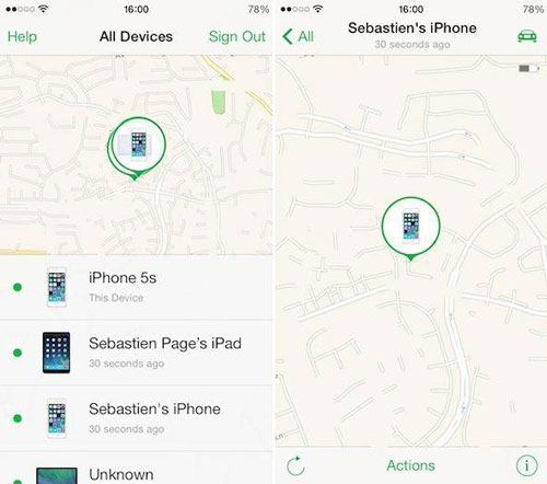 locate find my iphone lost mode