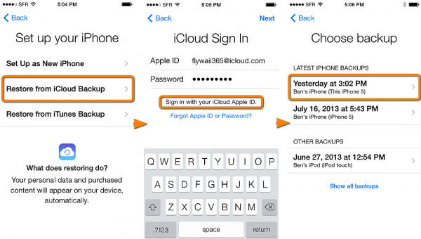 how to restore photos from icloud