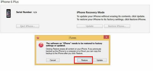 Wiederherstellen eines iPhones im Wiederherstellungsmodus