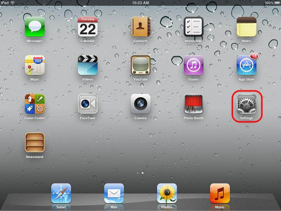 enable iCloud backup on iPad