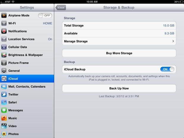 How to manage iCloud backups