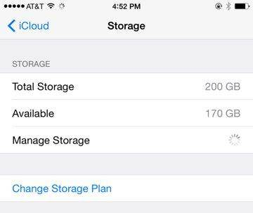 start to manage iCloud backups