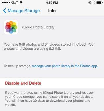 manage iCloud backups completed