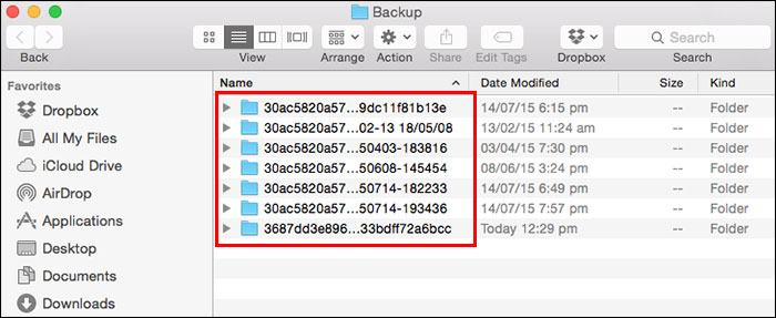 how to backup iPhone on Mac