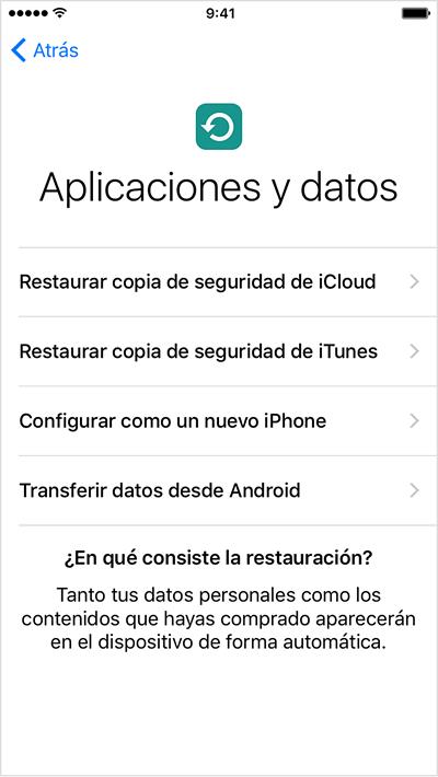 Recuperar conversaciones por iCloud
