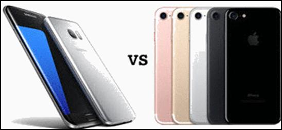 cuál es mejor, iphone 7 o Samsung S8