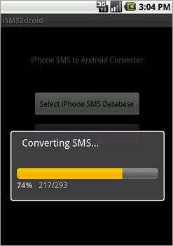 transfer sms messaggi from iphone to android