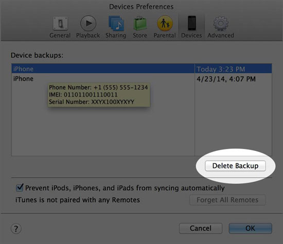 fix corrupt iPhone iPod backup
