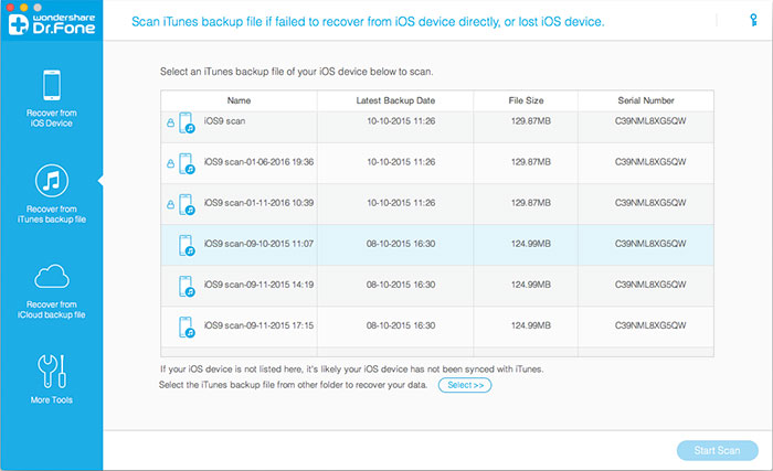 view itunes backup files