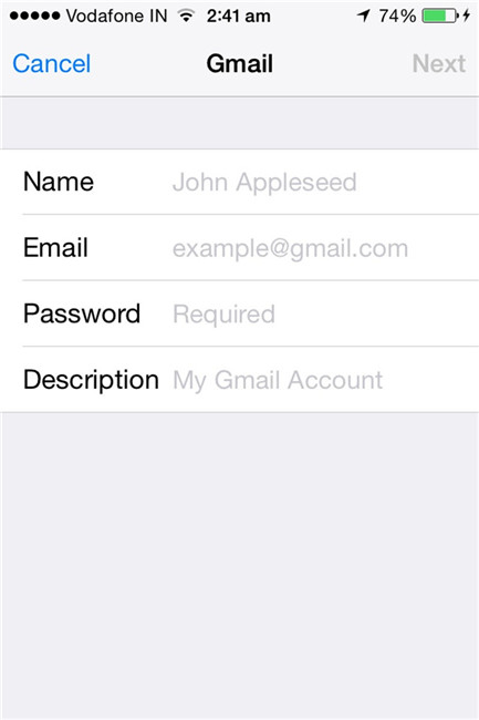 sincronizar contatos do google contacts com o ios