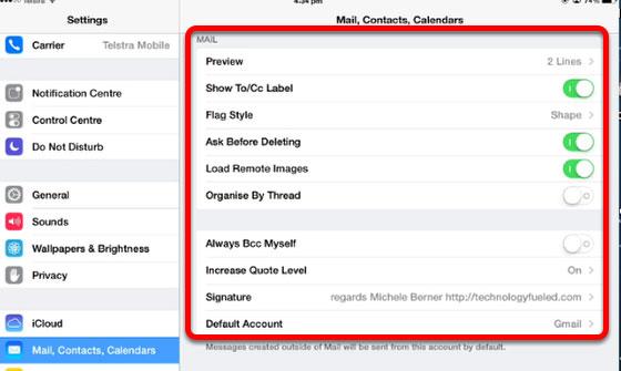 Default Account iCloud