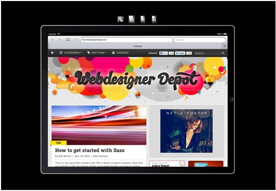 mobile emulator-iPad Peek