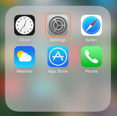 how to find phone number on iphone-settings