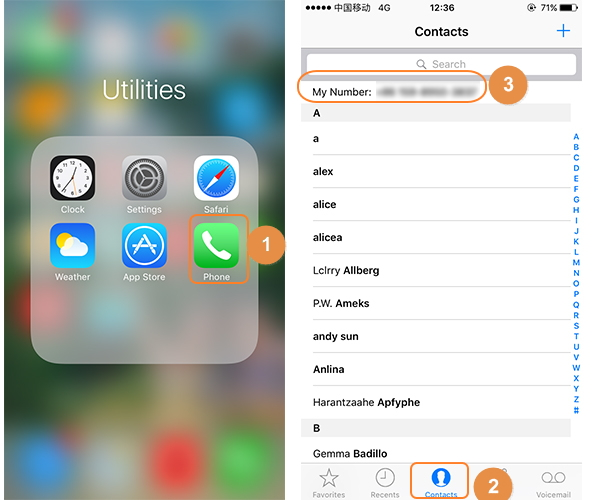 how to find phone number on iphone-phone and my number