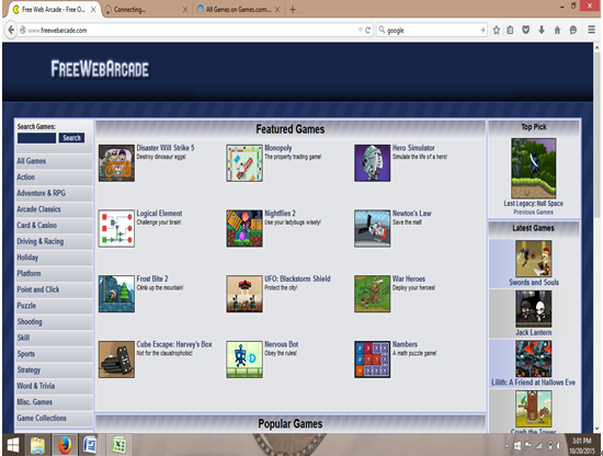 online emulators-freewebarcade