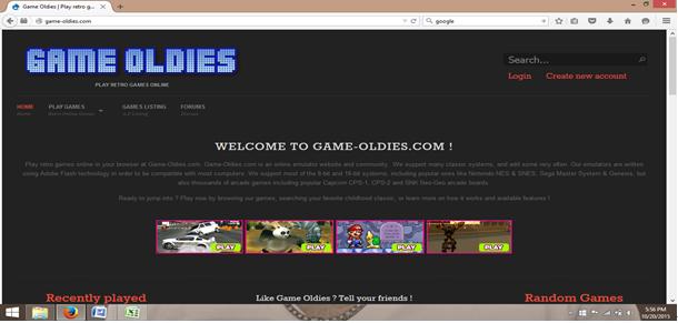 online emulators-web page