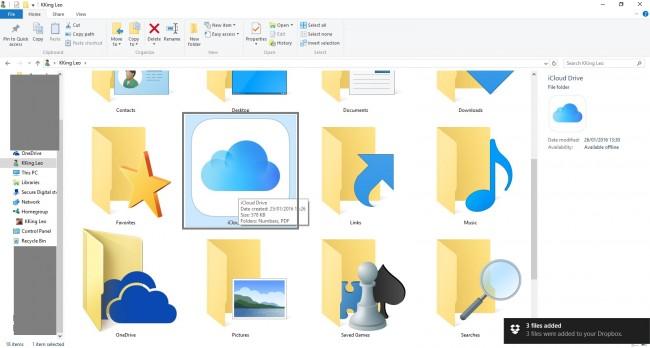 使用iCloud将PDF文件从PC传输到iPad  - 打开iCloud Drive文件夹