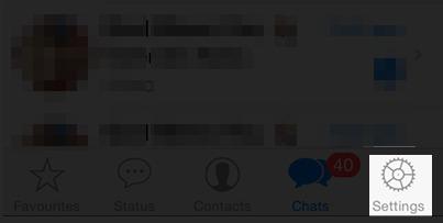 abra o WhatsApp antes de fazer backup de fotos e mensagens