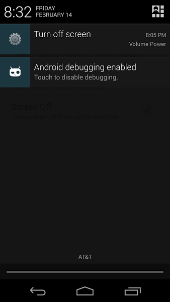 reboot android device