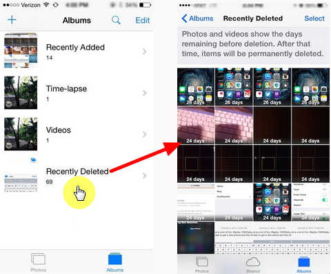restore deleted photos from icloud