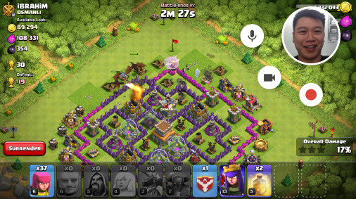 how to record Clash of Clans on Android