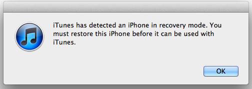 réinitialiser iphone jailbreaké par mode de récupération