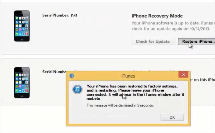 reset iphone without apple id