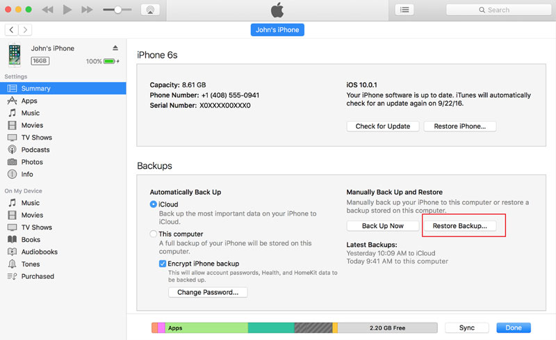 free iphone message backup