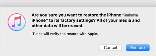 iphone factory reset