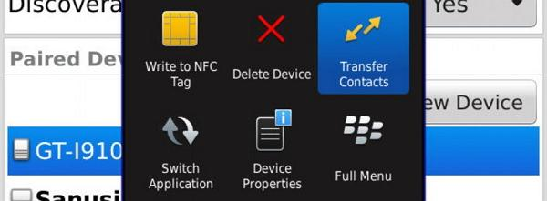 step 5 to transfer contacts from BlackBerry to Samsung