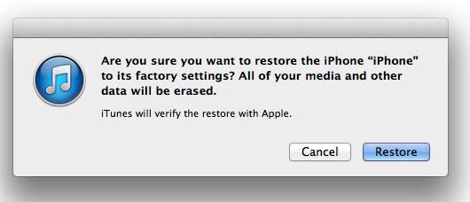 restore iphone permission