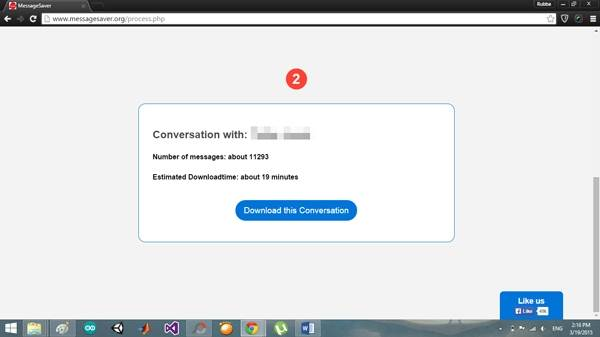download facebook conversation