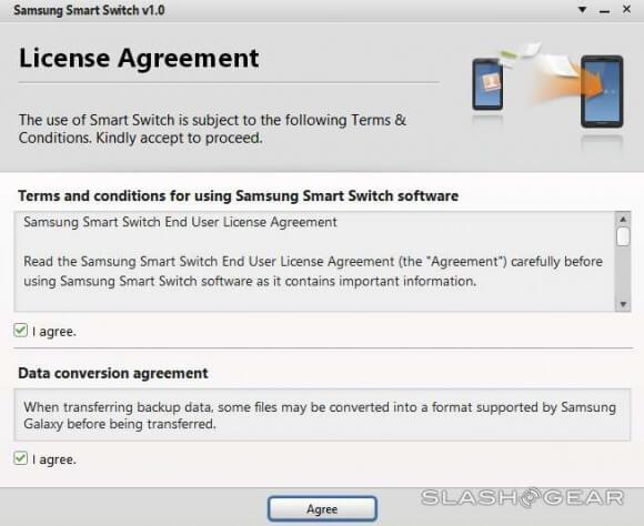 Download en start Samsung Smart Switch