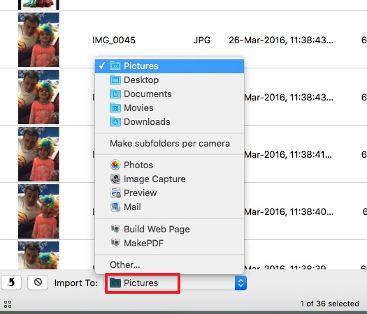 Transfer movies from iPad to Mac with Image Capture - Select iPad