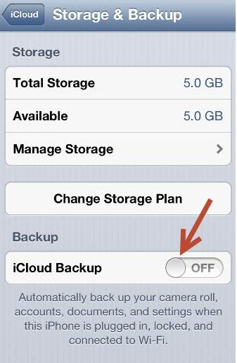 enable iCloud backup on iPhone