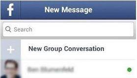 search facebook messages on android-go to facebook messages