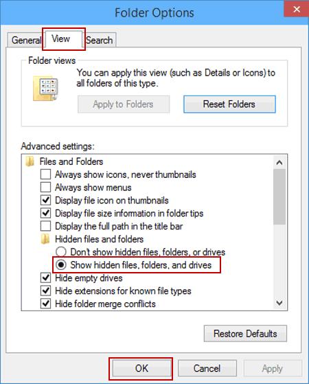 Versteckte Dateien anzeigen