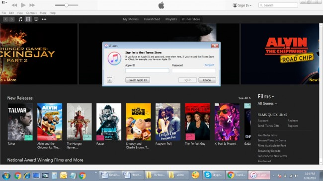 Transfira MP4 para iPad com o login do iTunes usando o ID apple