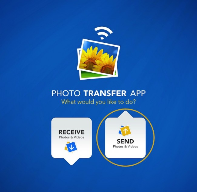 Transfer Photos from iPad to PC Using the Photo Transfer App - Start App