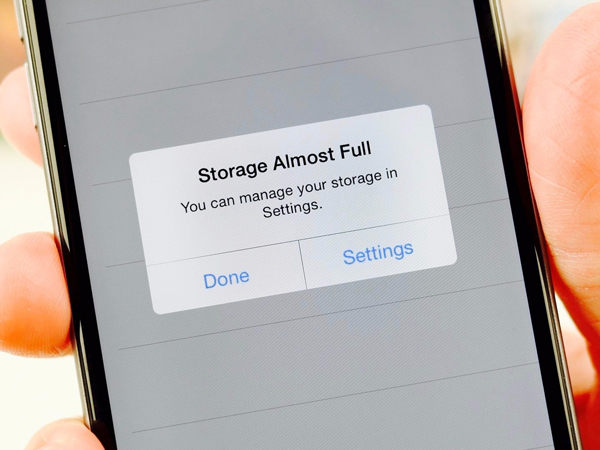 not enough storage iPhone