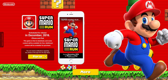 record super mario run App