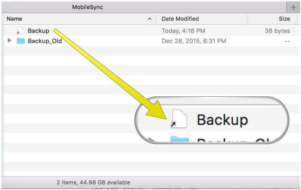 how to backup iPhone to external hard drive on iTunes